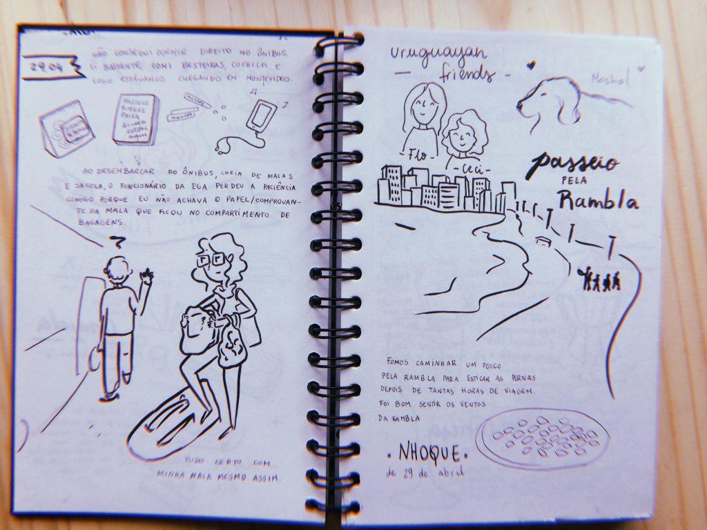 Relatos do segundo dia: 29 de abril. Chegada em Montevideo e passeios pela Rambla.